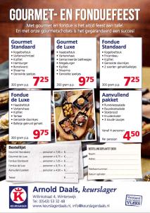 Keurslager Arnold Daals Gourmet en Fond