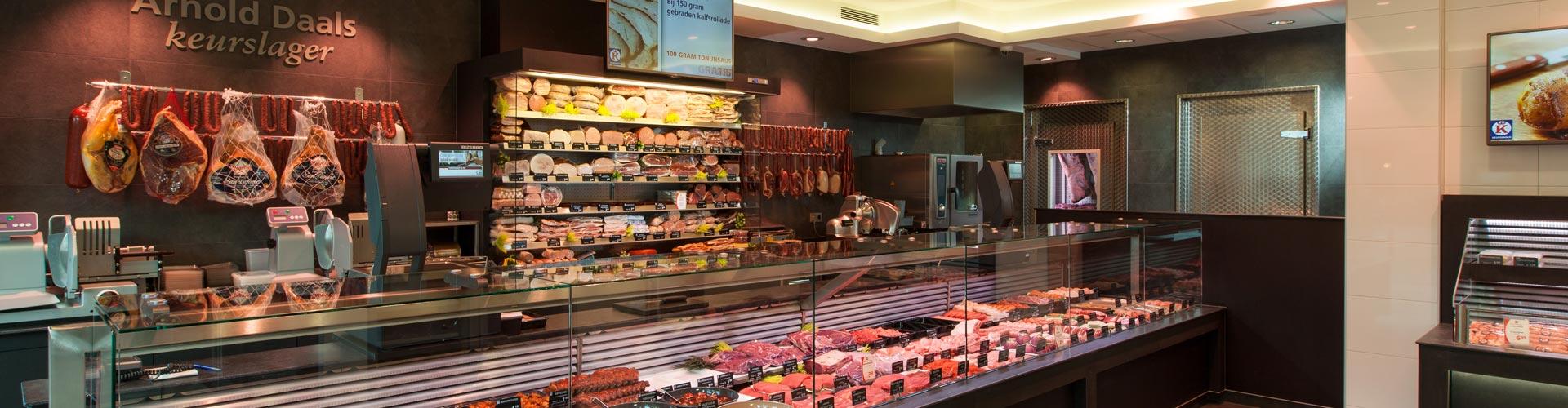 Keurslager Arnold Daals winkel overzicht